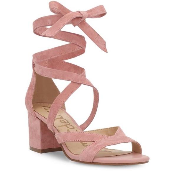 14eacd1f588365 NIB Sam Edelman Sheri Suede Lace Up Sandals